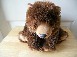 "Wild Republic Dark Brown Plush Bear K & M 12"" Lgth Stuffed Animal Toy - $11.26"