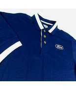 Ford Motor Co Blue Polo Golf Shirt F150 Mustang Cutter Buck Blue Oval Lo... - $19.99
