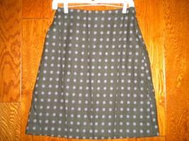 Garnet Hill Petite 4P Wool Silk Charcoal Lavender Polka Dot Womens Caree... - $12.86
