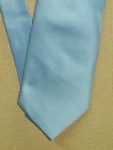 "Giorgio Armani Italy Neck Tie/Necktie Silk Sky Blue block pattern 58""x4"" - $20.69"