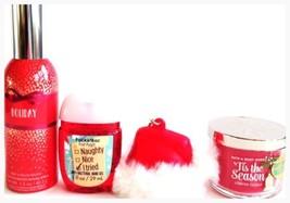 Bath & Body Works Holiday Room Spray, Mini Candle, PocketBac & Santa Hat - $21.84