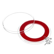 (10) Air-tite 32mm Red Velour Colored Ring Coin Holder Capsules for 1oz - $16.85