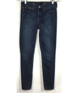 J Crew Midrise Womens Sz 25 Regular Jeans Matchstick Stretch Denim Skinn... - $28.87