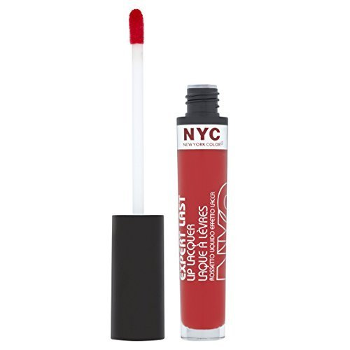 N.Y.C. New York Color Expert Last Lip Lacquer, Rockaway Ruby, 0.15 Fluid Ounce