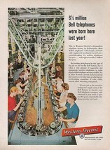 Women Telephone Assembly Line Western Electric Factory Indianapolis 1957... - $14.99