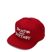 Thrasher Skate and Destroy Embroidered Snapback 3131330 Red One Size - $29.64