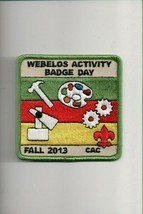 2013 CAC Fall Webelos Activity Badge Day patch - $5.94