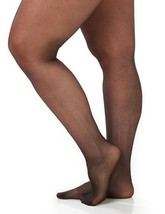 Catherines  Size D Day Sheer Pantyhose COFFEE 2 Pair  300-335 lbs.. NEW - $26.51