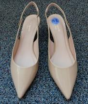 Kate Spade Shiloh Slingback Shoes Heels Nude Beige sz 8.5 New York - $125.00