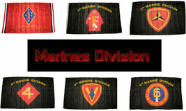 3x5 ft Wholesale Lot US Marine Marines Divisions Division Set Flags Flag 3'x5' - $29.88