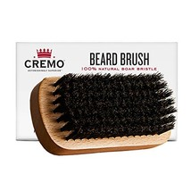 Cremo 100% Boar Bristle Beard Brush With Wood Handle To Shape, Style And Groom A image 1