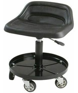 Black Hydraulic Shop Seat Adjustable Garage Stool Work Chair Mechanic To... - $137.51