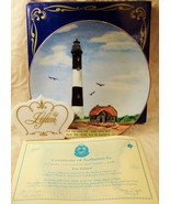 Vintage Historic Lighthouse Plate Collection Fire Island Lefton NEW NOS - $39.59