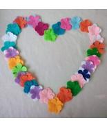 100pc Assorted Random Die Cut Felt Flower Petals. - $14.99