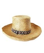 Vintage OP Ocean Pacific Ladies Straw Beach/Sun Hat - £21.53 GBP