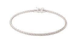 "ROBERTO COIN 18K White Gold Woven Bracelet Fits Wrist 6.25""  - $589.05"