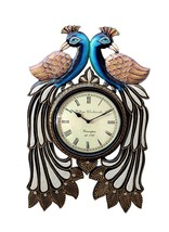 decorative peacock clock for home and office decorative arts  - $45.00
