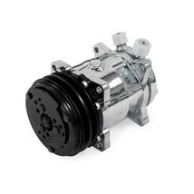 A-Team Performance Sanden 508 Style Clutch V-Belt A/C Compressor CHROME