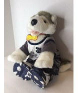 Build A Bear Siberian Husky Dog Puppy Plush Stuffed Animal Outfit Retire... - $39.59