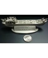 Franklin Mint Landing Ship Tank Pewter Ship Sculpture WWII Edition 1990 ... - $19.95