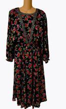 VTG Dale Tryon Kanga Dress Boho Floral Dress Diane Freis Style 80s Prair... - $94.05