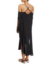 $348 MARA HOFFMAN ANTHROPOLOGIE BEADED BLACK LONG CAFTAN DRESS SIZE XS/S image 2