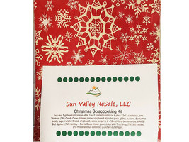 Sun Valley ReSale Christmas Scrapbooking 12x12 Kit, LOADED!