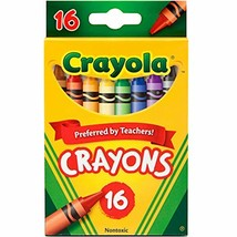 "Crayola Crayons, School Supplies, Assorted Colors, 16 Count, Crayon Size 3-5/8""L - $5.39"