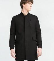 NWT ZARA Man XXL 2XL longer wool coat jacket overcoat heavyweight warm big mens - $106.69