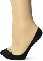HUE Womens Hidden Cotton Liner Sock Crew Cut No Show Socks Black S/M 3 P... - $7.99