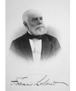 FRANCIS LELAND New York City Banker - SUPERB Portrait 1877 Antique Print - $13.86