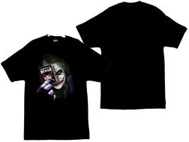 The Joker With Card and The Walking Dead Negan Lucille Image Men's T-Shirt - $20.78
