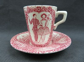 Danish Nymolle tea cup set. Limited edition red and white Decor Jacob E ... - $19.00