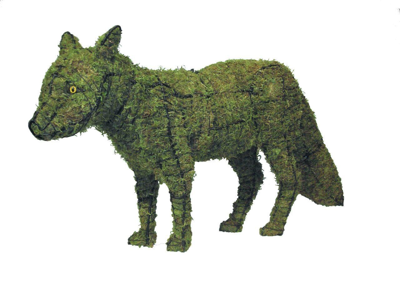 """Fox 23"""" and 36"""" Moss Topiary Sculptures - $99.99 - $161.99"""