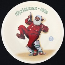 1989 Rockwell Jolly Old St Nick Santa With Pepsi Plate Knowles Ltd Ed Ch... - $19.74