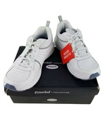 Dr. Scholl's Womens Bound White Gray Leather Athletic Running Shoes Sz 7... - $50.95