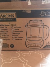 AROMA 6-Cup Programable TEA MAKER in Pastel LCD Display Stainless Steel ... - $94.05