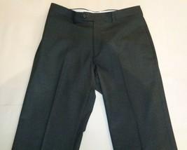 Ralph Lauren Size 34W 30L COMFORT FLEX PANT Charcoal New Mens Flat Front... - $79.20