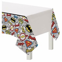 Heroes Unite Justice League Plastic Tablecover 1 Ct Birthday Party Supplies - $6.44