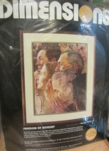 Dimension Norman Rockwell  Freedom of Worship Crewel kit NEW - $21.80