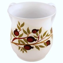 Judaica Hand Wash Cup Netilat Yadayim Natla White Stainless Steel Pomegranates image 2