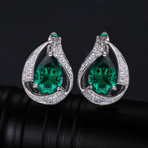 CiNily 100% Solid 925 Sterling Silver Created Green Stone Cubic Zirconia... - $17.03