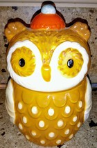 Harvest Owl Candy Jar Canister Ceramic - $17.81