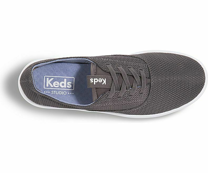 Keds WF58725 Women's Studio Leap Diamond Mesh Slate Shoes, 8.5 Med