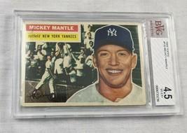 1956 Topps Mickey Mantle #135 BVG 4.5 baseball card graded Beckett - $1,480.05