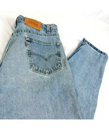 VTG Levis 550 Men Denim Blue Jeans Relaxed Fit Tapered Leg W 36 L 30 USA - $39.99