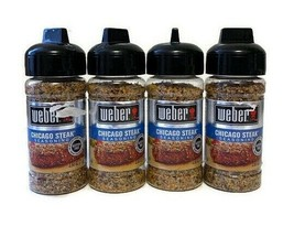 Weber Chicago Steak Seasoning (4 Pack) Best by 2024 2.50 oz Each Gluten ... - $19.76