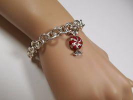Tiffany & Co Enamel Candy Twist Bon Bon Bracelet Bangle Link Chain Pouch Silver - $457.01