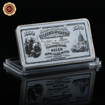 WR US 1875 $1000 First National Currency 1 Oz Color Silver Clad Bar Frie... - $4.99