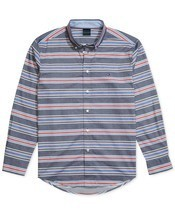 Tommy Hilfiger Adaptive Mens Custom-Fit Marky Twill Stripe Shirt Size XL - £26.31 GBP